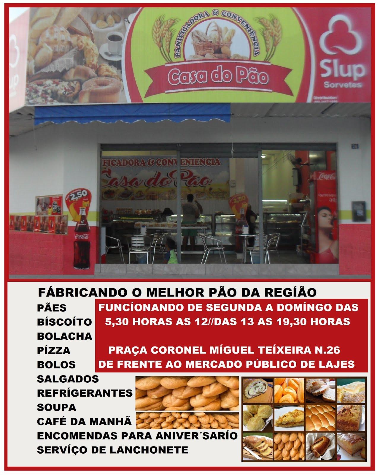 PANIFICADORA E CONVENIÊNCIA CASA DO PÃO LAJES RN