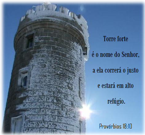 Resultado de imagem para O nome do Senhor é uma torre