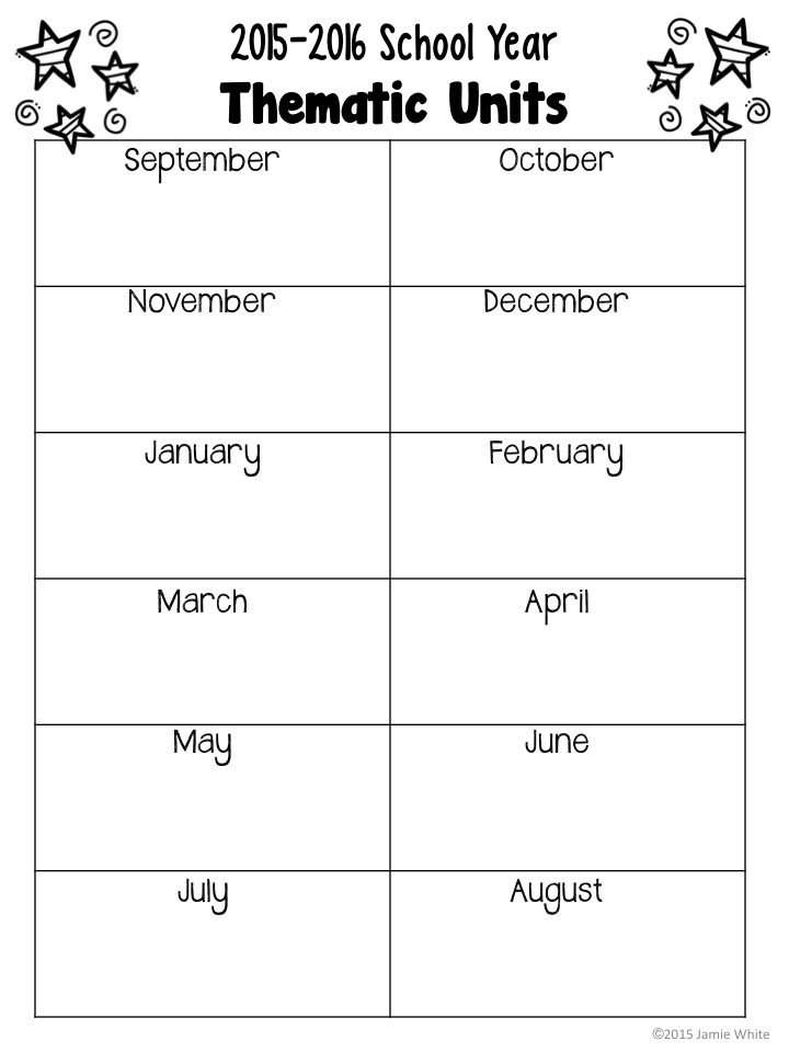 Play to learn preschool plan themes for the year for Yearly lesson plan template