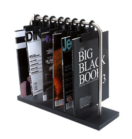 magazine rack with 8 clips