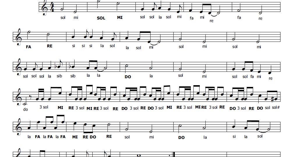Musica e spartiti gratis per flauto dolce heidi