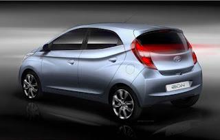 Hyundai Eon Back View