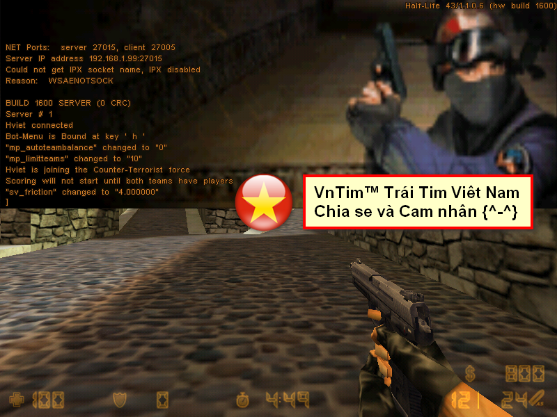 keo ha bang cua so go lenh trong half life Counter Strike v1.1 v1.0
