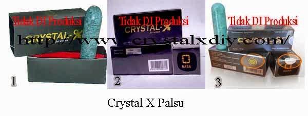 Kemasan Crystal X Palsu