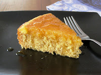 Orange Polenta Cake with Orange Drizzle Syrup