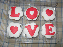 "SET CUPCAKES ""LOVE"""
