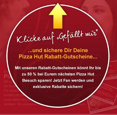 Facebook-Aktion: Pizza Hut Gutscheine für mehrere Großstädte, bis zu 50 Prozent sparen