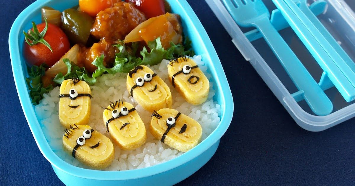 create eat happy how to make minions bento lunch box despicable me vi. Black Bedroom Furniture Sets. Home Design Ideas