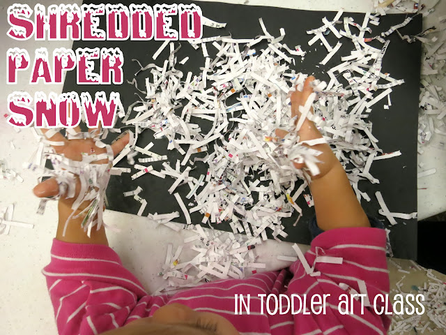 http://librarymakers.blogspot.com/2013/02/toddler-art-class-shredded-paper-snow.html