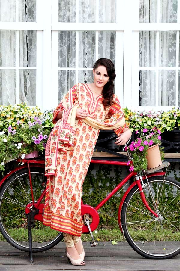 Warda Designer Spring Summer Lawn Collection 2013 For Women  Style
