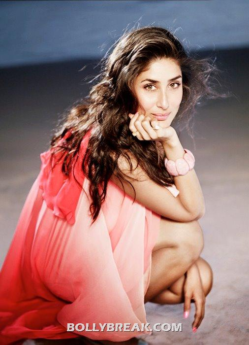 Kareena Kapoor in red dress - Kareena Kapoor Beach Photoshoot - Latest June 2012 Pics