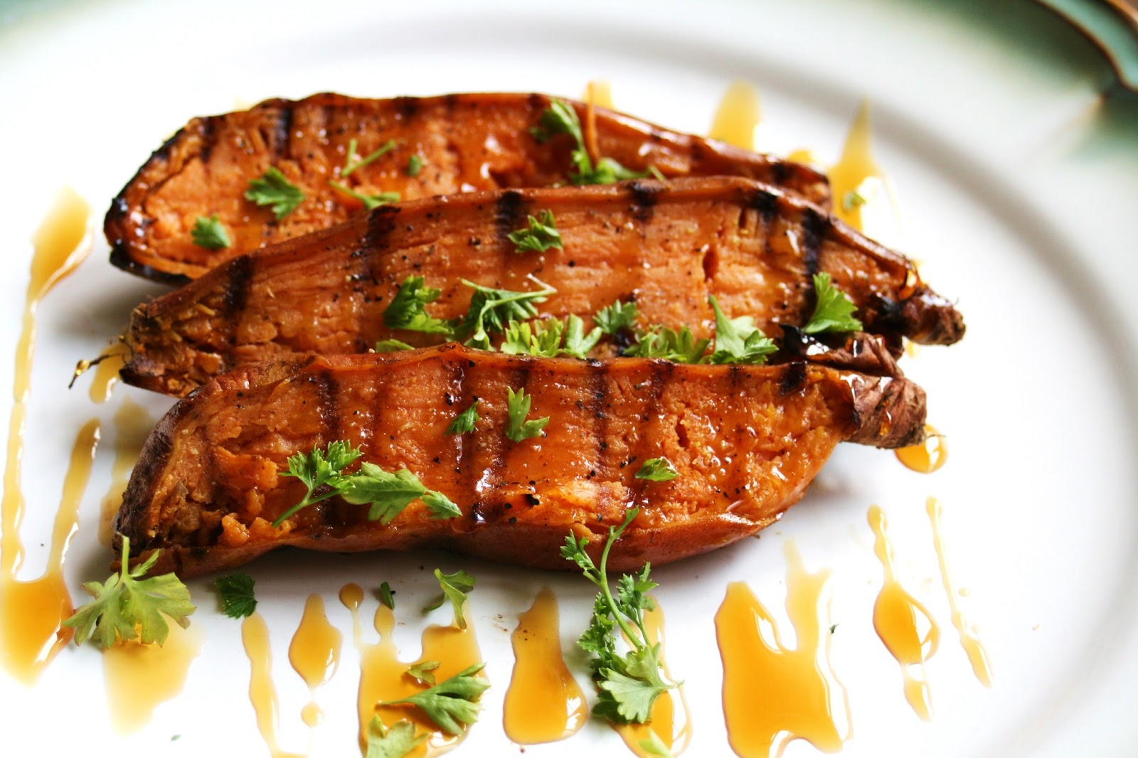 Thee Cook: Honey Cilantro Lime Grilled Sweet Potatoes
