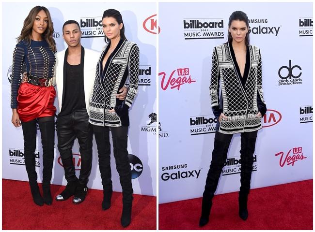 Balmain x H&M 2015 Fall Beaded Velvet Jacket on Red Carpet