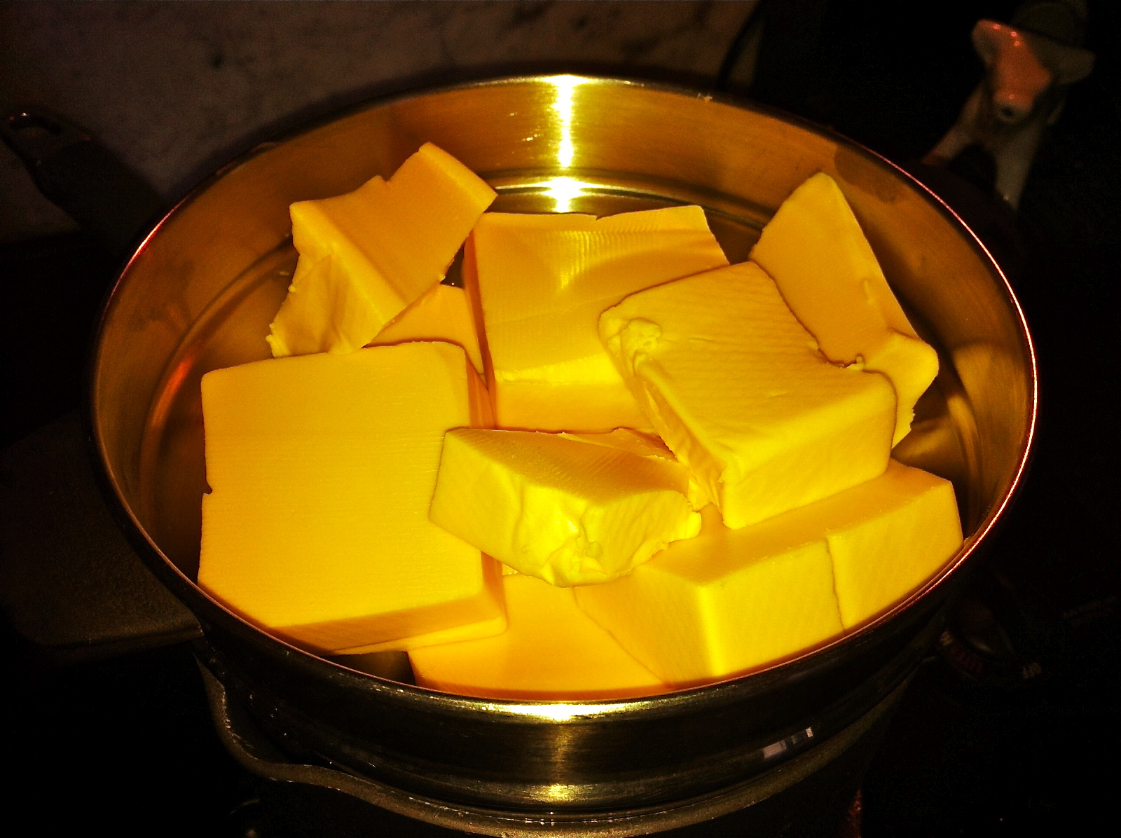 melting velveeta cheese