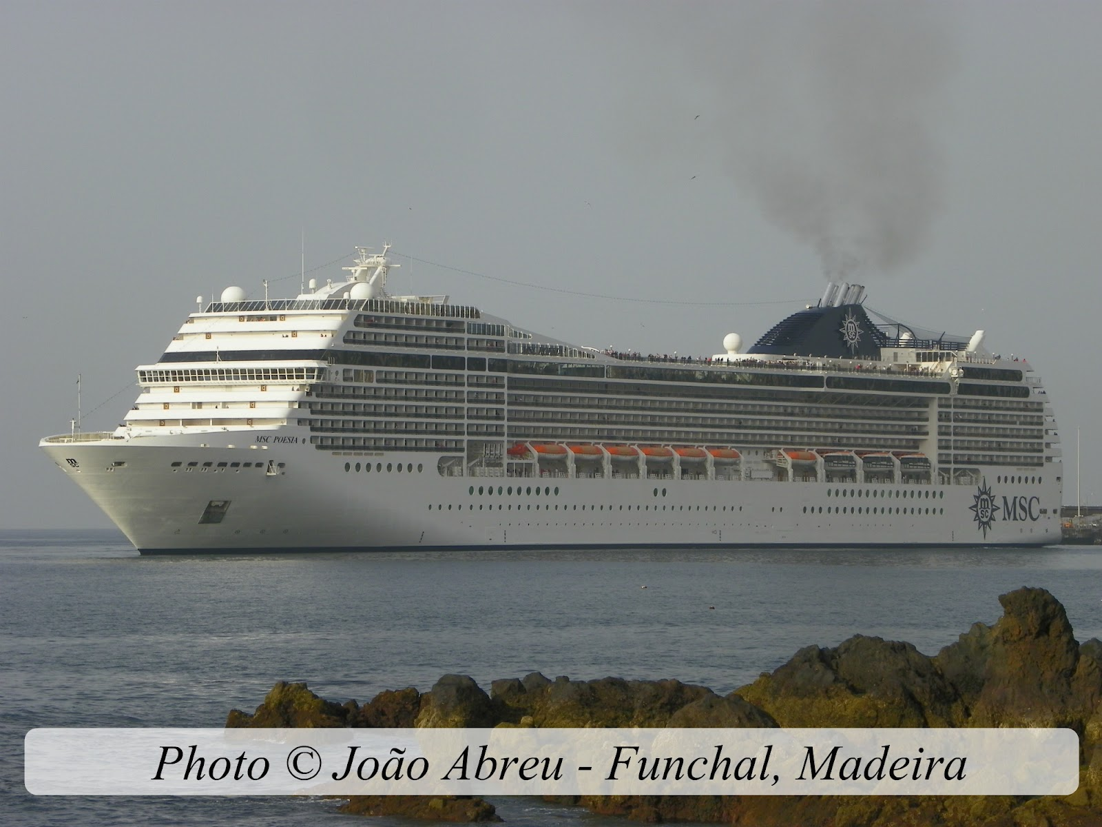 CRUISE SHIPS AND LINERS: MSC POESIA underway in Funchal