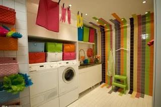 Cuarto de lavado colorido