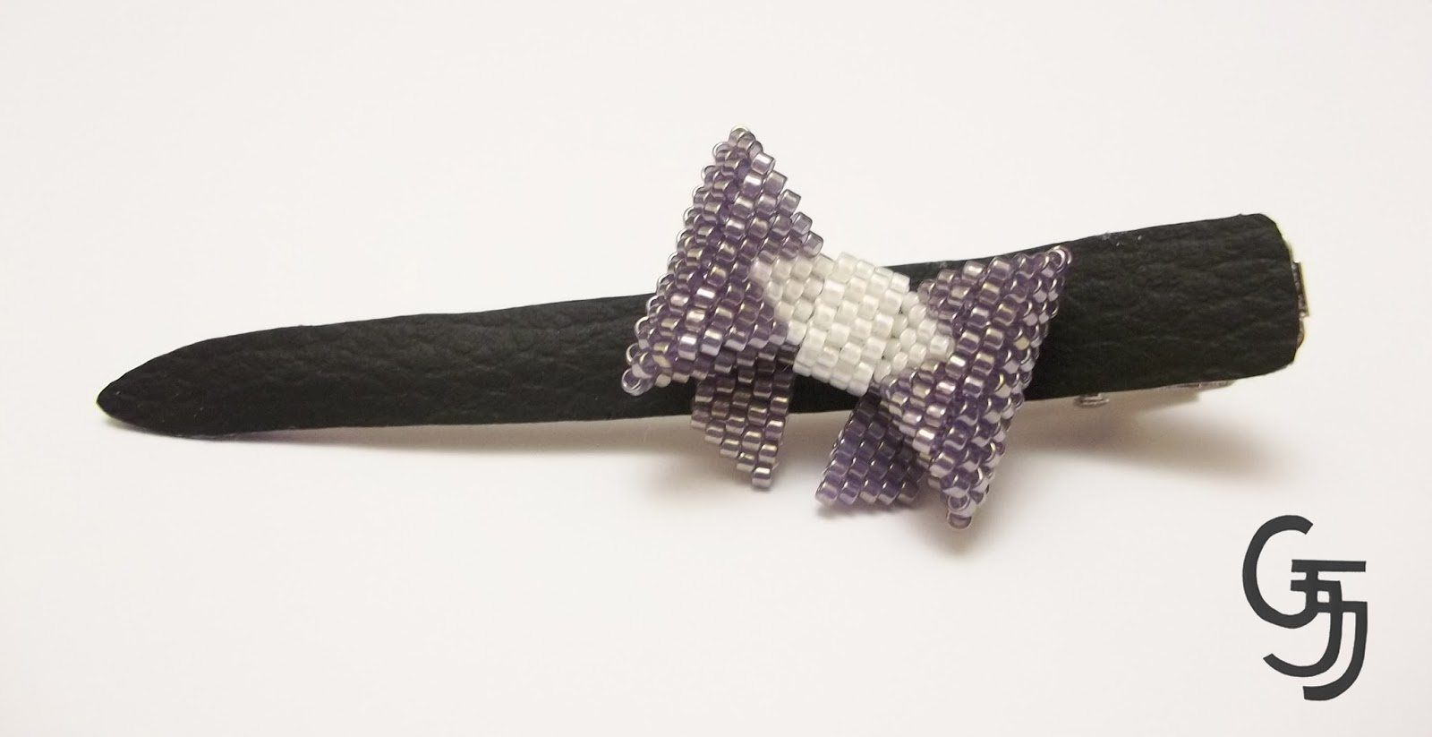 hair pin bow peyote