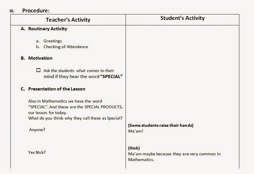 a detailed lesson plan in mathematics Lesson plan #4582 a sample lesson plan in mathematics grade four using block m.