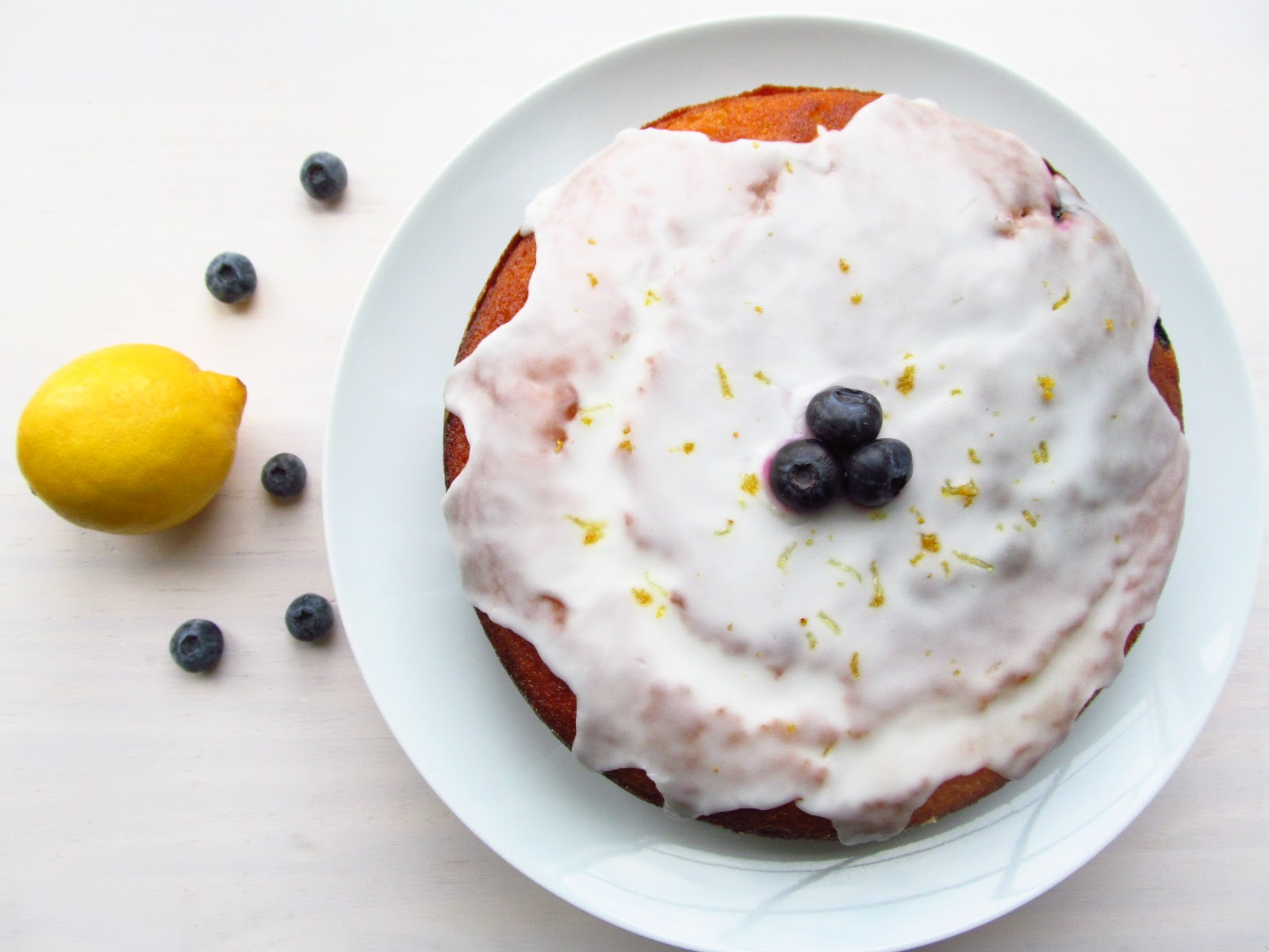 Good Food, Shared: Lemon-Blueberry Yogurt Cake