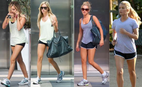 Britney tirando o tenis depois da academia