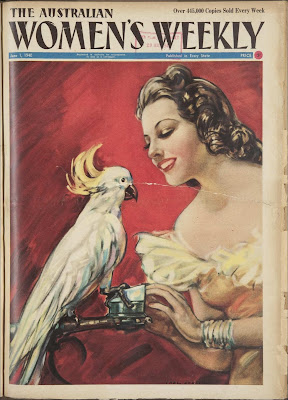 Australian Women's Weekly Cover, cockatoo,  June 1940