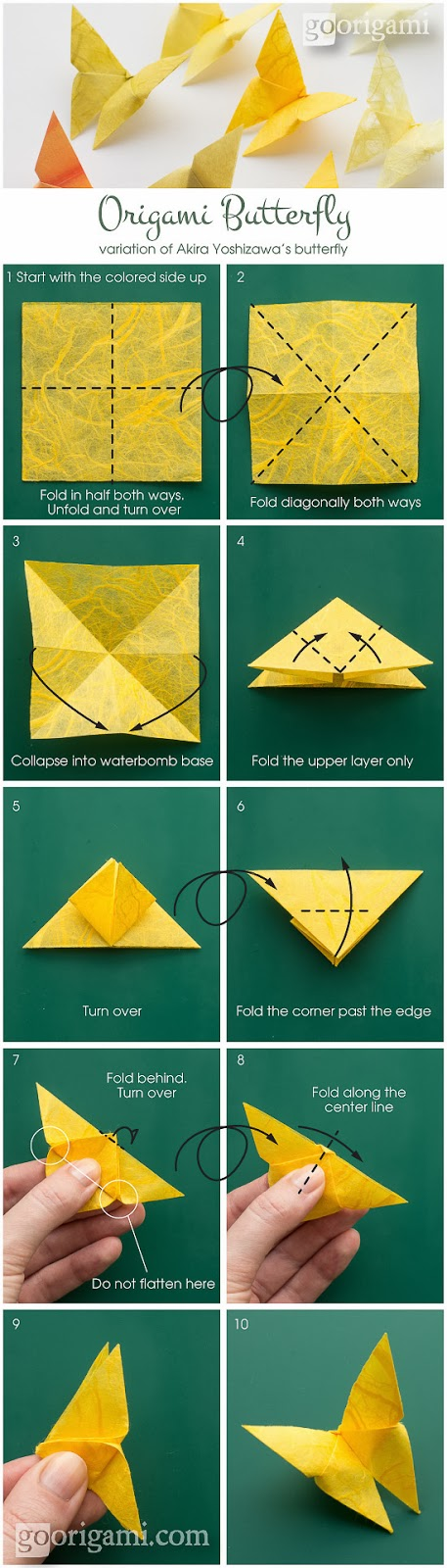 cara membuat origami kupukupu dari kertas lipat