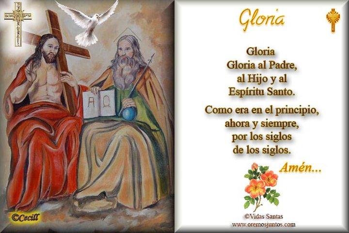 Rincón de la Oración: Estampas Oraciones del Gloria