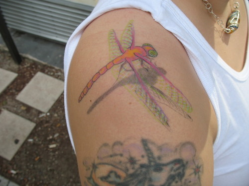 Hot Dragonfly Insect Tattoo