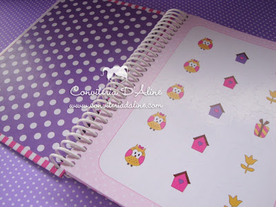 caderno recados personalizado bebe