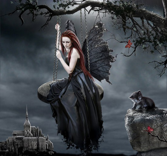 sexy gothic fairy wallpaper - photo #2
