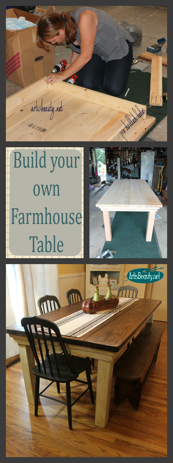 Art is beauty build your own primitive bench for Build your own farmhouse