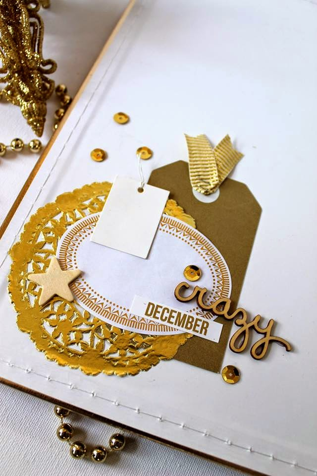 Bernii Miller December Daily album 2014 using The Stamp Spot - Document December kit.