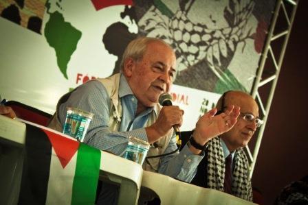 Embaixador Arnaldo Carrilho no Forum Social Mundial Palestina Livre