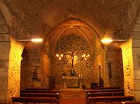 Interior de la nau de Sant Julià d'Alfou