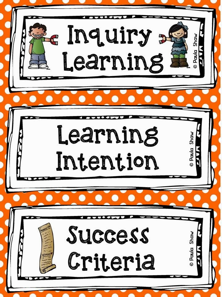 success criteria for writing instructions