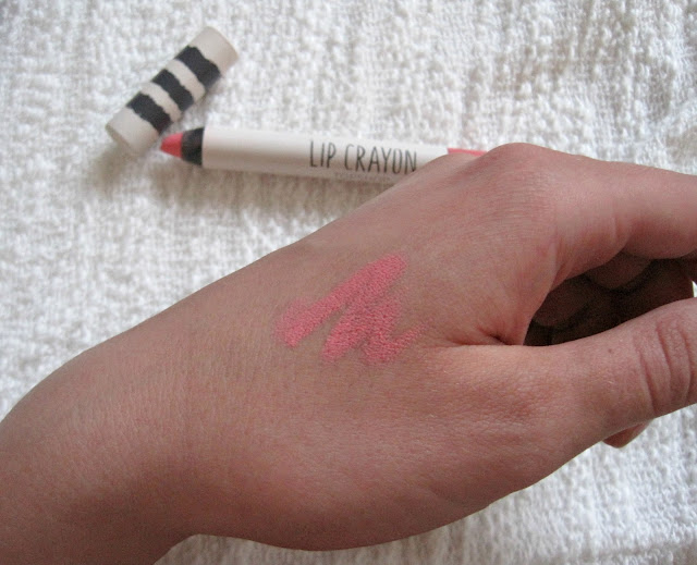 topshop lip crayon coy swatch review