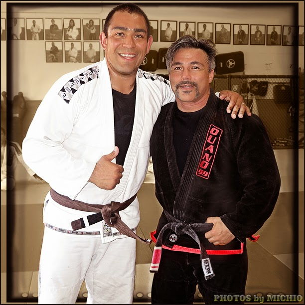 long time student Armando Contreras with Michio Grubbs