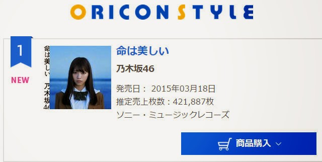 penjualan-single-ke11-nogizaka46-di-oricon