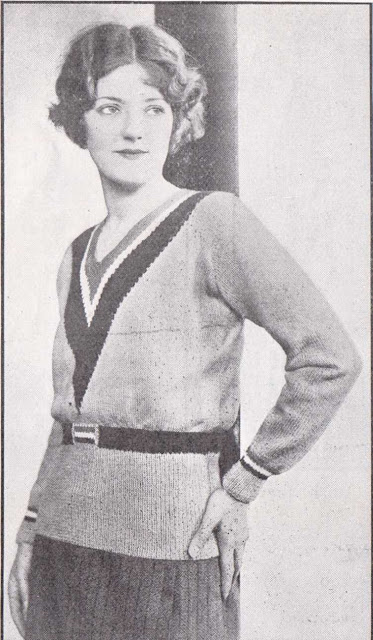The Vintage Pattern Files Free 1930's Knitting Pattern - A Jumper with A Slimming Line