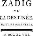 Zadig ou la Destinée (Voltaire)