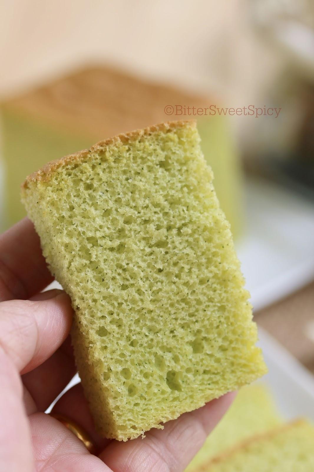 Bittersweetspicy Pandan Ogura Chiffon Cake