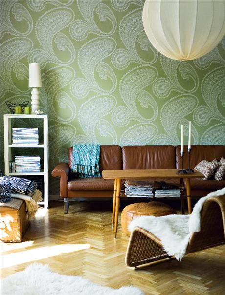 using paisley in interior decor