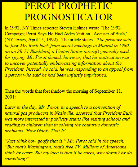 Perot Parrots 2001 Predicament in 1992