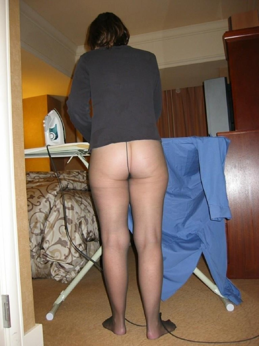 Wearing panties pantyhose