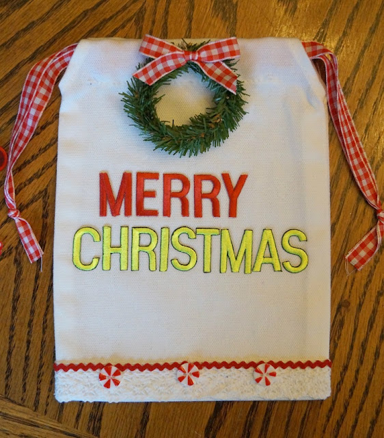 merry christmas gift bag joy iron-on letters