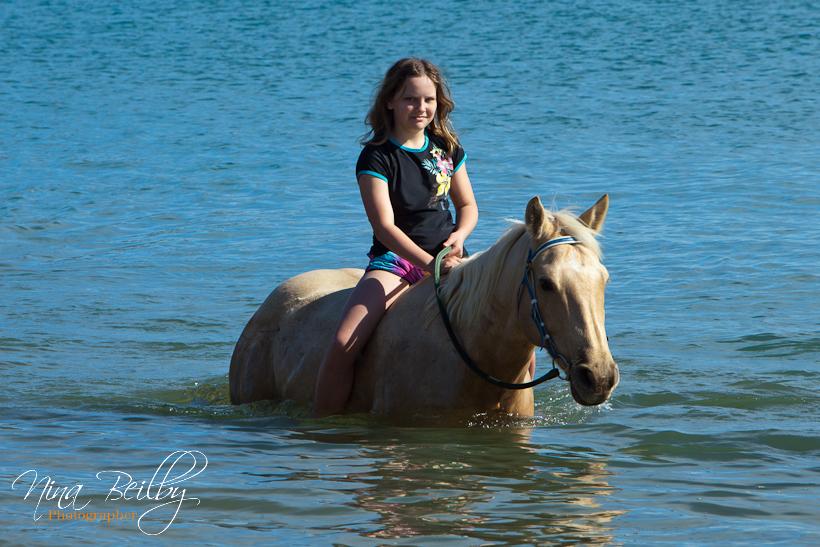 Naked Girl Riding Horse The Beach