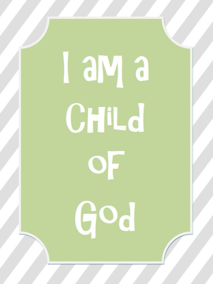 Hilaire image pertaining to i am a child of god printable