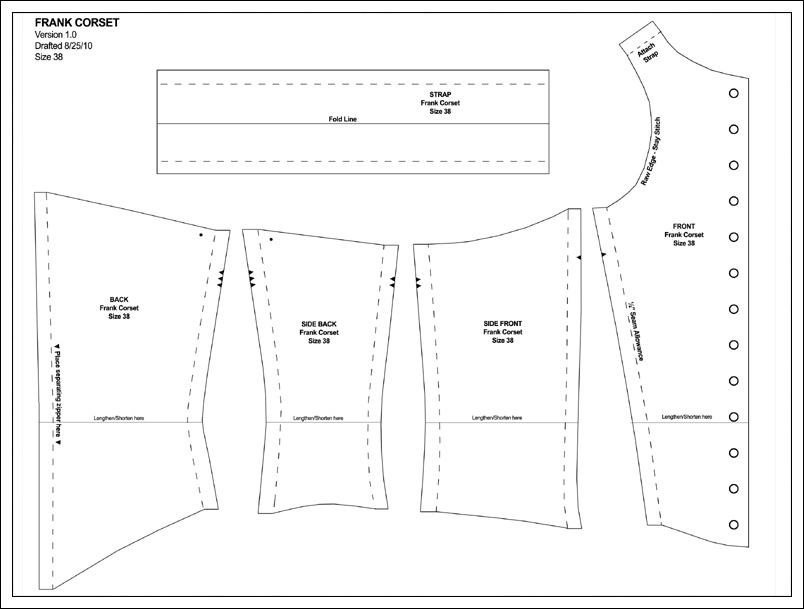 how to cut a bustier pattern