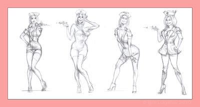 pin up nurse drawing, sexy nurse