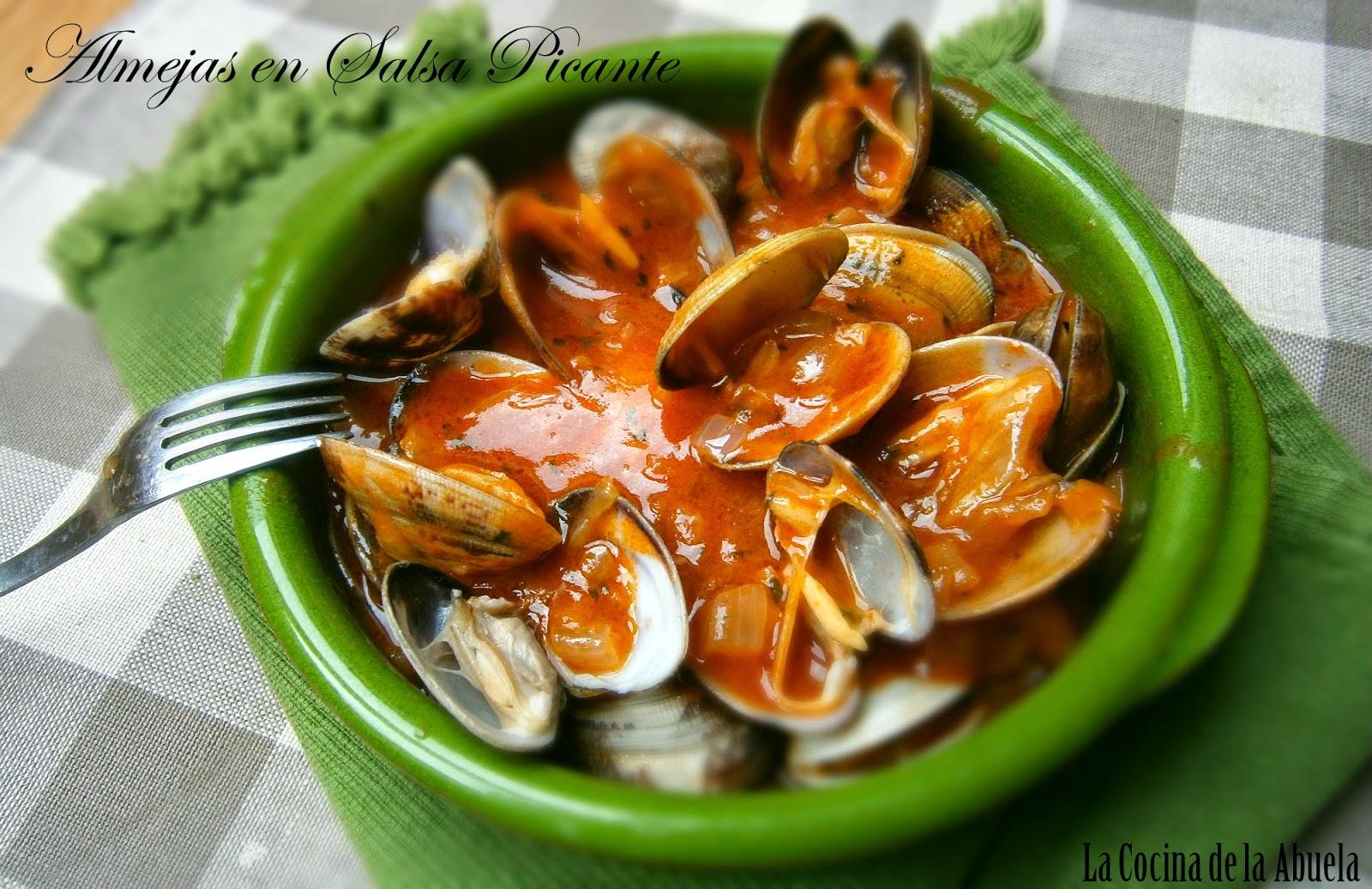 Almejas en Salsa Picante.
